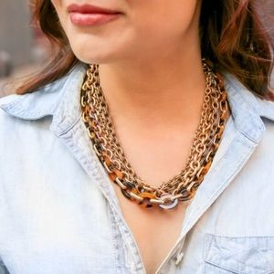 Tortoise + Chain Convertible Necklace
